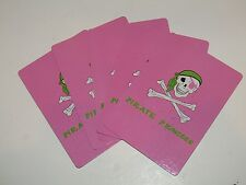 Jolly Roger Pink Pirate Princess Playing Cards (54 Cards)