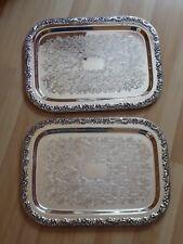 2 Servierplatten 30 x 41 cm Hersteller unbekannt