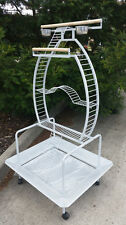 LARGE PARROT / BIRD PLAY STAND / ACTIVITY GYM RRP $325 - SILVER VEIN FINISH