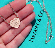 Tiffany & Co Return To Tiffany rubedo Cuore Tag Collana con pendente in Argento Sterling