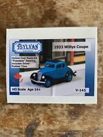 Sylvan Ho Scale Model 1933 Willys Coupe Model Railroad
