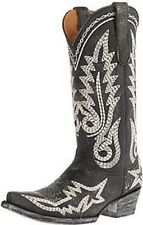 NEW IN BOX Old Gringo Women's Sharon Heavy Black/White Western Boots Size 8