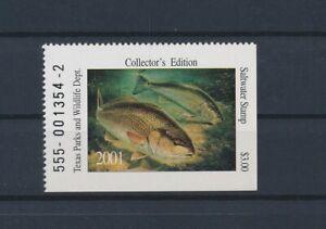 LO41713 USA 2001 saltwater fish sealife texas parks & wildlife lot MNH