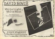 5/11/83PN56 ADVERT: DAVID BOWIE SINGLE WHITE LIGHT, WHITE HEAT 7X11