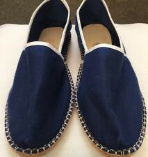 BARRE PARIS Shoes Flats Navy Blue w White Stitching Canvas Womens 39 Like Toms