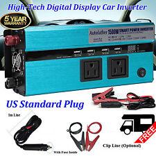 Modified Sine Wave Car Power Inverter 1500W/3000 WATTS Converter Digital Display