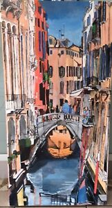 Venice Italy - Original Hand Painted Acrylic Painting On Canvas