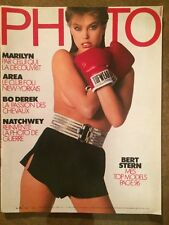 PHOTO n°208 French Jan 1985 Bert Stern Bo Derek Marilyn Monroe Giacobetti Slavin