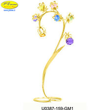 FIORE BLUEBELLS 24K GOLD PLATED CRYSTOCRAFT BOMBONIERE DI LUSSO