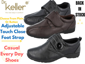 Ladies Dr Keller Faux Leather Touch Close Strap Flat Loafers Comfort Casual Shoe