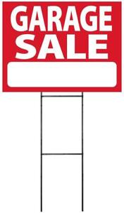 """Large (18""""x24"""") Garage Sale Sign w/ Stake (Single, 2, 4, 8, or 10 pack)"""