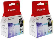 2 x Genuine Canon CL-511 (CL511) Colour Ink Cartridge