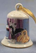 chinese crested dog Porzellan glocke figur porzellanglocke weihnachtsglocke 94