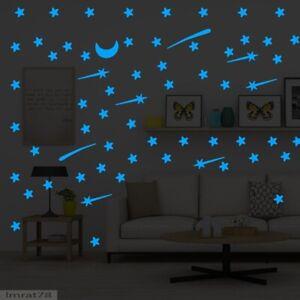103pcs Luminous stars meteor moon Glow in the dark Wall Sticker home decoration