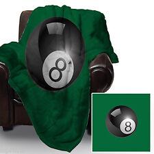 8 Kugel Pool Snooker Design Weich Fleece Decke Hülle Bett L&S Muster