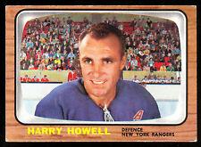1966 67 TOPPS HOCKEY #91 HARRY HOWELL EX-NM N Y RANGERS
