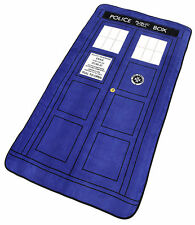Doctor Who TARDIS Large Plush Thick Throw Blanket Authentic *NEW* Rare SALE!!