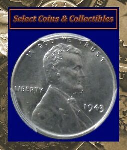 1943-P Lincoln Wheat Cent PCGS MS67 Blue Steel Beauty! No-338
