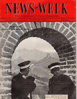 1937 Newsweek March 20 - Reno Gambling; Amelia Earhart changes route; Bowling