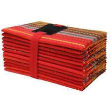 Cotton Craft- 12 Pack -Salsa Stripes Oversized Dinner Napkins - Red Multi - S.
