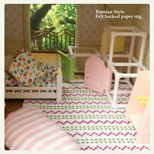 Simple Russian style felt backed printed rug Sylvanian Families, Calico Critters