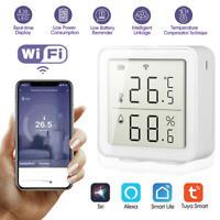 Smart Home WIFI Wireless Temperature Humidity Sensor LCD Thermometer APP Control