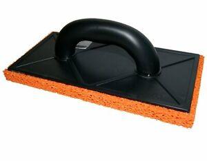 Orange Soft Rubber 18mm Sponge Float 280 x 140mm Plastering, Skim Render Trowel
