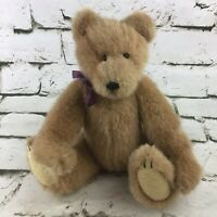 The Boyds Collection Teddy Bear Classic Jointed Plush Purple Ribbon Stuffed Toy