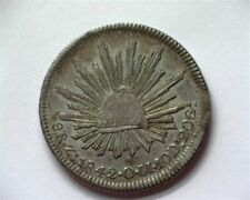 MEXICO 1842-ZSOM SILVER 8 REALES CHOICE ABOUT UNCIRCULATED