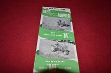 John Deere M-20 Mower For M & MT Tractor Dealer Brochure DCPA3