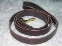 """Leather Dog Leash Lead Personalized Amish Made 6' by 1"""""""