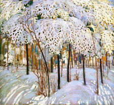 Snow in October    by Tom Thomson  Giclee Canvas Print Repro