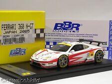 FERRARI 360 N-GT JAPAN 2005 LIMITED 100PCS  BBR MODELS 1/43 #BG301