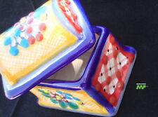 Fine Talavera Jewelry Box Ceramic Pottery Mexico Hand Artwork Signed Orange Side