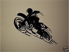 Dirtbike  Motocross Wall Vinyl Decal Sticker 22 x 26