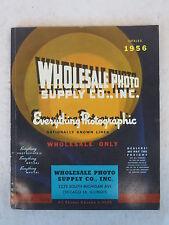 WHOLESALE PHOTO SUPPLY CO. CATALOG 1956  Illustrated