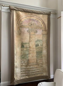 """Large Handpainted Fresco ~ Non Nobis Solum - Latin for """"Not for ourselves alone"""""""