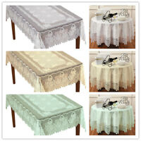 Vintage Lace Tablecloth Dining Table Cloth Cover Topper Wedding Party Floral