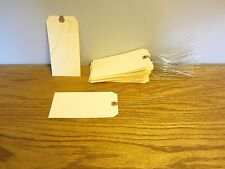 """150 Avery Dennison Wired Blank Shipping Tags #8 Trade Size 6 1/4"""" By 3 1/8"""""""
