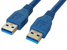 Premium Quality 10 ft 10 feet USB 3.0 A Male to A Male Cable Blue