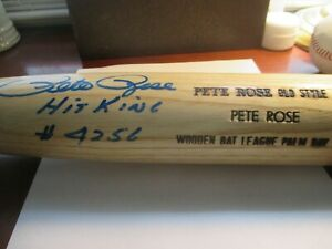 Pete Rose Signed Young Bat Co. Blonde Pet Rose Style Wood Bat w/Inscriptions