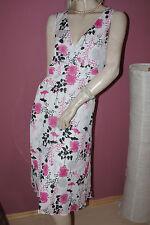 S.Oliver Kleid Sommerkleid Chiffon leichtes Crinkle weiß pink schwarz nw  36