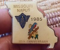 Missouri NAPUS 1985 National Association of Postmasters lapel pin pre-owned 50th