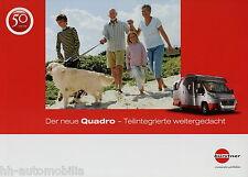 Prospekt Bürstner Quadro Reisemobil 1/08 Broschüre Wohnmobil 2008 brochure