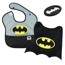 Bumkins DC Comics Batman SuperBib w/ Cape (6-24 Months) Baby Bib & Teether Set
