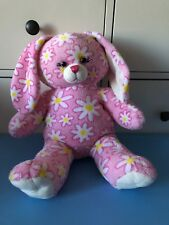 "Build a Bear Workshop Bunny Rabbit Daisy Flowers 17"" Plush Stuffed Toy BAB BABW"
