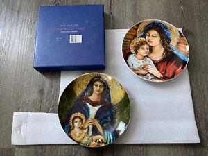 """Arte De Cafe Two Plates 8"""" Elsa Nunez Obras De Set De 2 Platos"""