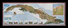 FRAMED Map of of Cuba by Gerardo Canet and Erwin Raisz 1949 16x6 Vintage