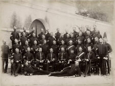 1892 PHOTO INDIA  - NON COM OFFICERS 7th DRAGOON GUARDS MUTTRA