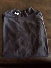 UNDER ARMOUR Sz YLG black Mock Turtleneck Long Sleeved T-Shirt